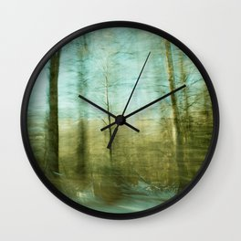 Moved By Trees ii Wall Clock