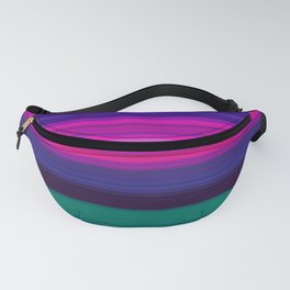 Vibrant Purple Pink and Green Stripes Fanny Pack