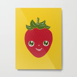 Skullberry, Sweet Strawberry That Has Gone Rogue Metal Print