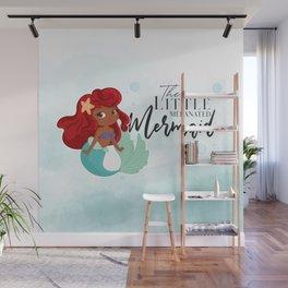 The Melanated Mermaid Wall Mural