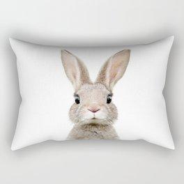Baby Rabbit Portrait Rectangular Pillow