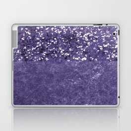 Ultra Violet Glitter Meets Ultra Violet Concrete #1 #decor #art #society6 Laptop & iPad Skin