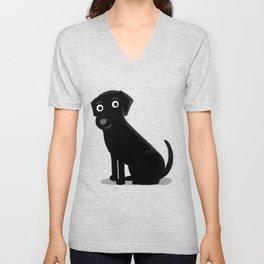 Black Lab - Cute Dog Series Unisex V-Neck