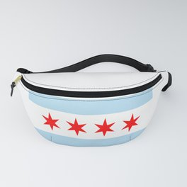 American cities-  Flag of  Chicago Fanny Pack
