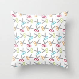 Bright Scissors Throw Pillow