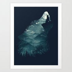 Hungry Wolf Art Print
