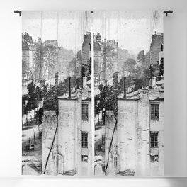 Boulevard du Temple Daguerreotype Blackout Curtain