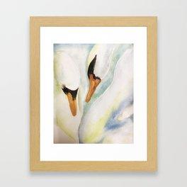 On Swan lake Framed Art Print