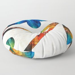 Eye of Horus - Art By Sharon Cummings Floor Pillow