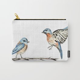 Bluebirds watercolour and ink Carry-All Pouch