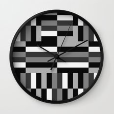 Black White and Gray Wall Clock