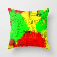 rasta Throw Pillows featuring Rasta by Kimberly