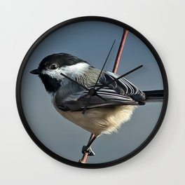 Winter Chickadee II Wall Clock