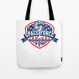 US Space Force | New Military Branch Novelty Gift Light Tote Bag