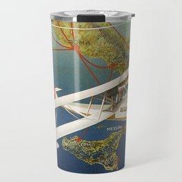 Vintage 1920s Island plane shuttle Italian travel Travel Mug