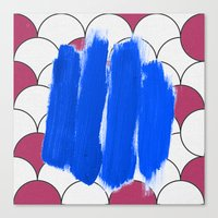 Blu Imperfection Canvas Print