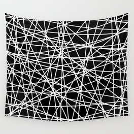 Abstract White Lines No. 2 Wall Tapestry
