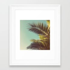 Autumn Palms Framed Art Print