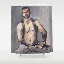 JAMES, Leather Daddy by Frank-Joseph Shower Curtain