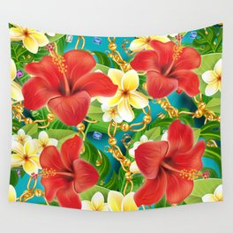 tropical color party  Wall Tapestry