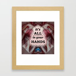 U rule the world Framed Art Print