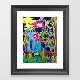 We Came to Conquer Framed Art Print