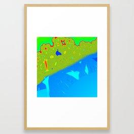 Burning Ship Fractal Framed Art Print