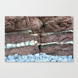 Colourful Rock Abstract Canvas Print