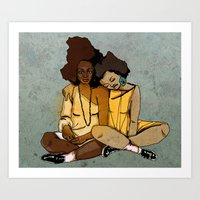 yemaya y oshun  Art Print
