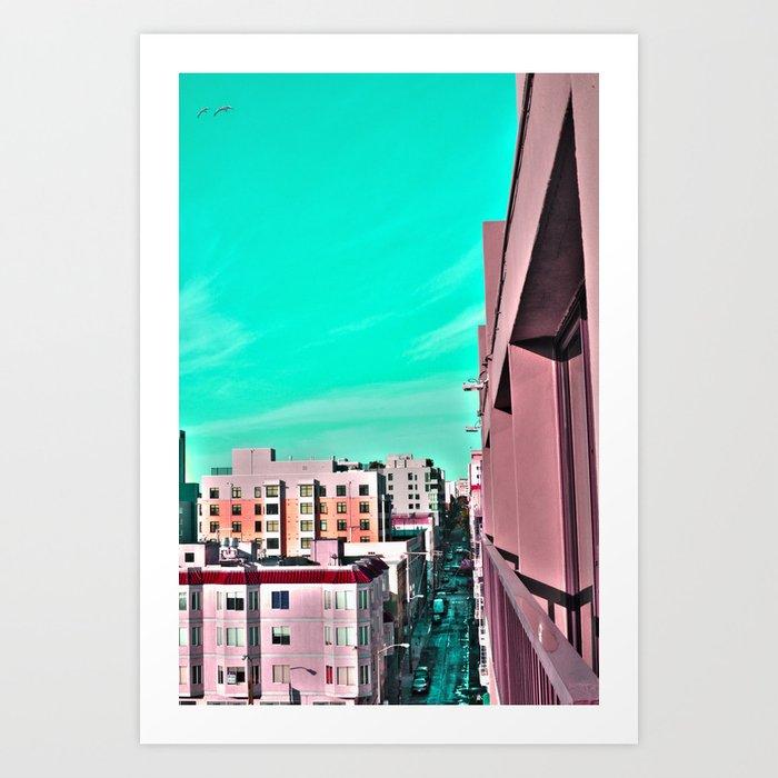 Turquoise Skies Art Print