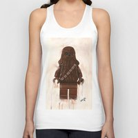 chewbacca Tank Tops featuring Lego Chewbacca by Toys 'R' Art