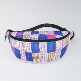 New York Cityscape (purple funkadelic) Fanny Pack