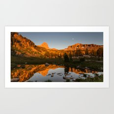 Alaska Basin Sunset Art Print