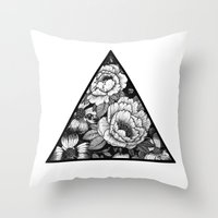 triangle Throw Pillows featuring Triangle by adroverart