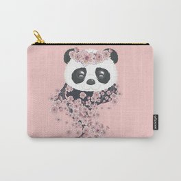 Panda face and Sakura Carry-All Pouch