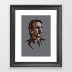 Villains: Hans Gruber Framed Art Print