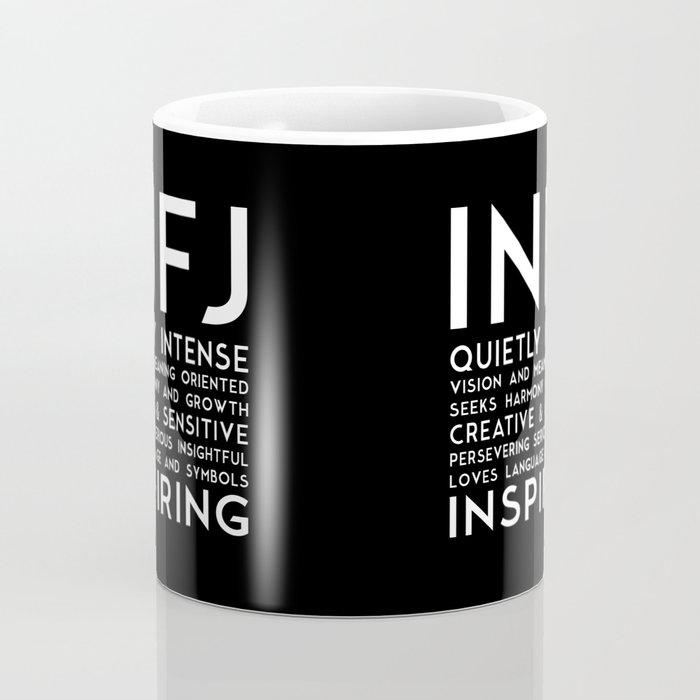 INFJ (black version) Coffee Mug