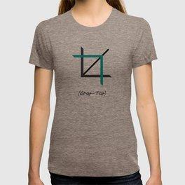 Crop-top white T-shirt