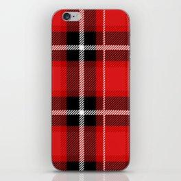 Red + Black Plaid iPhone Skin