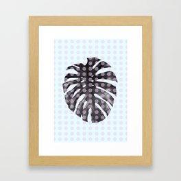 Monstera Dots Framed Art Print
