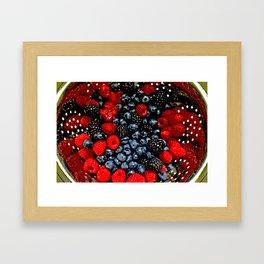 Colander Full of Fruit Framed Art Print