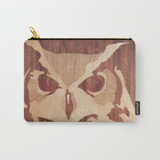 Owl marquetry art picture Carry-All Pouch