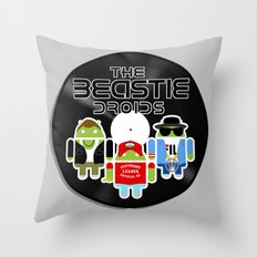 The Beastie Droids Throw Pillow