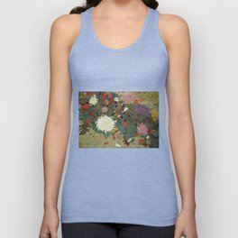flower【Japanese painting】 Unisex Tank Top