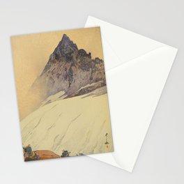 Yariga Mountain Hiroshi Yoshida Japanese Woodblock Print Stationery Cards