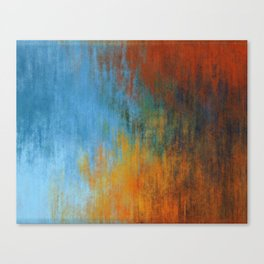 Abstract tri color painting Canvas Print