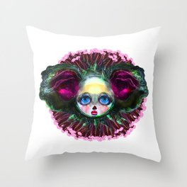 Beasts of Botanica - Black Mourning Bride Throw Pillow
