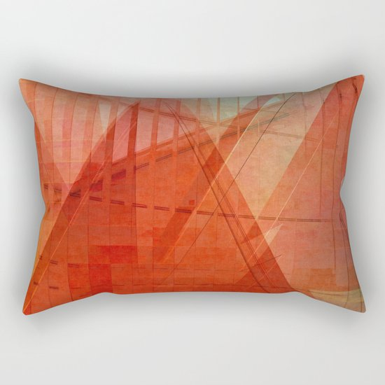 Orange abstract  Rectangular Pillow