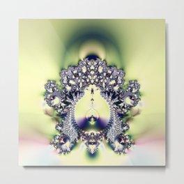 Fractal Sconce Metal Print