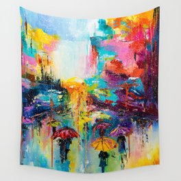 RAIN FALL DOWN Wall Tapestry